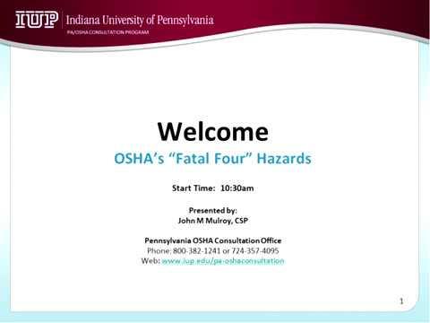 Fatal Four Hazards recording