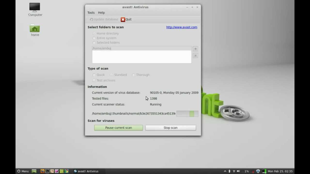 avast linux install