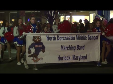 North Dorchester Middle School Band performs at the 2019 Cambridge Maryland Christmas Parade
