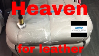 Heaven for Leather, dedicated leather cleaner and conditioner.