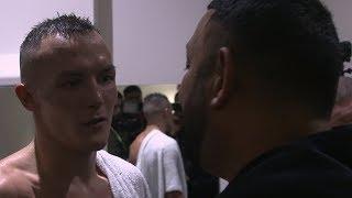 Prince Naseem Hamed invades Josh Warrington's post-fight interview