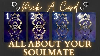 All About Your Soulmate🥰💘 *Super In-Depth*| PICK A CARD🔮 Love Tarot Reading with Charms✨