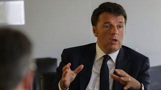 Italian PM Renzi Sanguine on Economic Growth