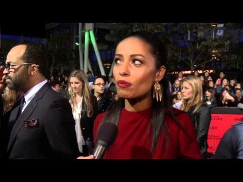 Meta Golding Enobaria ed at the 'Catching Fire' Premiere in L.A.