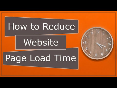 How to Reduce Website Page load time