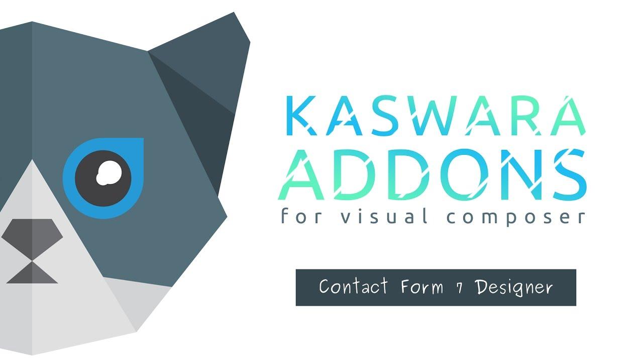 Contact Form 7 Designer - Kaswara Visual Composer Addons - YouTube