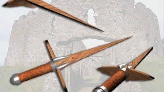 Красивые деревянные ножи и мечи - холодное оружие из дерева(Холодное оружие из дерева начали делать сотни тысяч лет назад. И тогда оно украшением и игрушкой не было...., 2015-06-07T16:31:43.000Z)