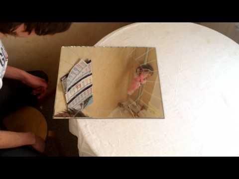 Как вырезать круглое зеркало
