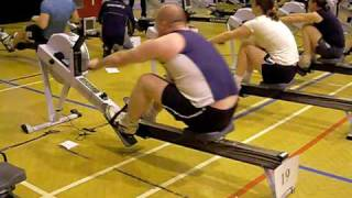 Indoor Rowing 500m World Record - 1:14.4s Rob Smith & 1:29.4s Graham Lay