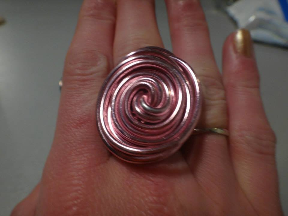 Loisir cr atif fabriquer bague ovale fil alu facile - Fabriquer porte bijoux facile ...