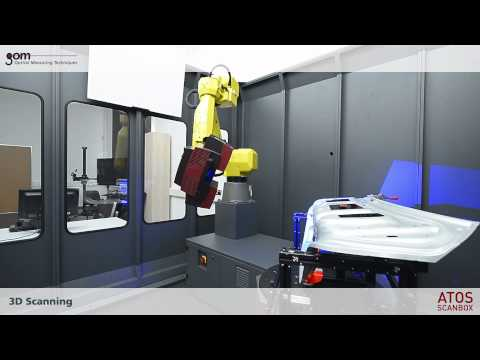 ATOS ScanBox In Use - Complete Workflow Of The Optical 3D Measuring Machine By Using Kiosk Mode