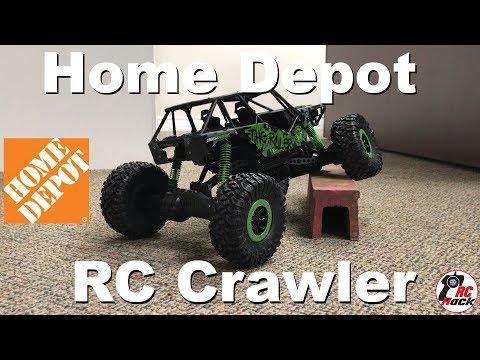 Home Depot's $50 1/10 4WD RC Crawler | SCX10 Killer LOL