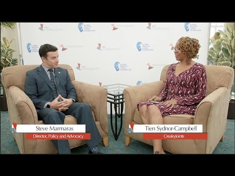 CreakyJoints LiveStream   Steve Marmaras discusses step therapy with Tien Sydnor-Campbell
