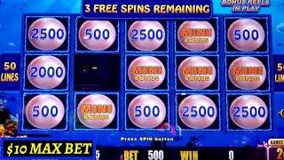 Lightning Link Magic Pearl Slot Machine $10 Max Bet Bonus | DIAMOND JEWEL 2x3x4x5x Slot Machine