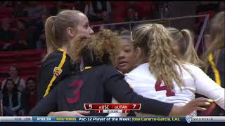 USC Women's Volleyball: USC 3, Utah 2 - Highlights (10/22/17)