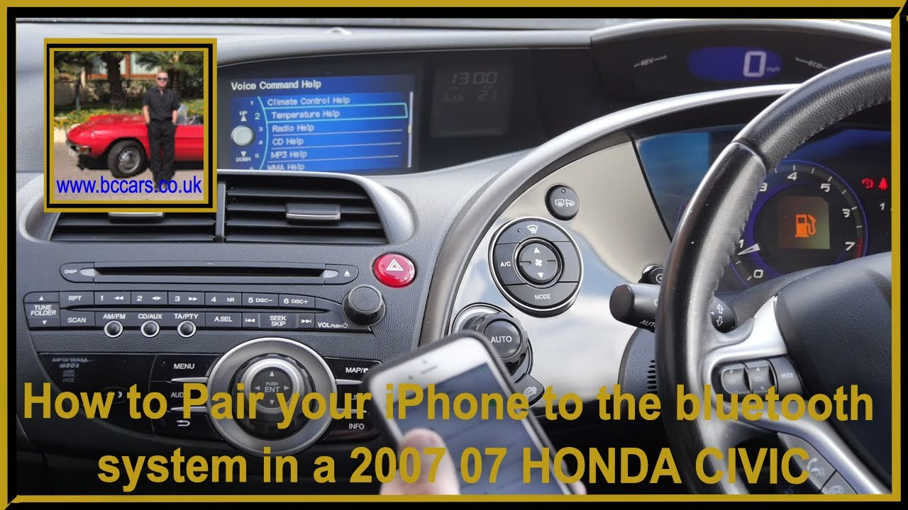 How To Pair Your Iphone The Bluetooth System In A 2007 07 Honda Civic 1 8 I Vtec Ex