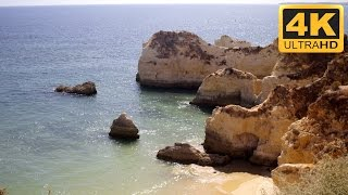 Amazing Cliff View in the Algarve, Portugal: 4K Ocean Video