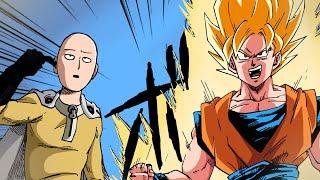 Saitama in Dragon World! | DBZ x One-Punch Man | COMPLETE STORY