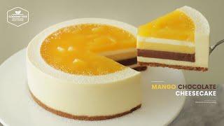 노오븐ლ(╹◡╹ლ) 망고 초콜릿 치즈케이크 만들기:No-Bake Mango Chocolate Cheesecake Recipe-Cooking tree 쿠킹트리*Cooking ASMR