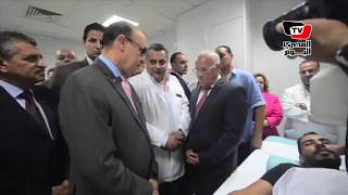 «مميش» ومحافظ بورسعيد يتفقدا جهاز تفتيت الحصوات المهدي لـ«مستشفى الزهور»