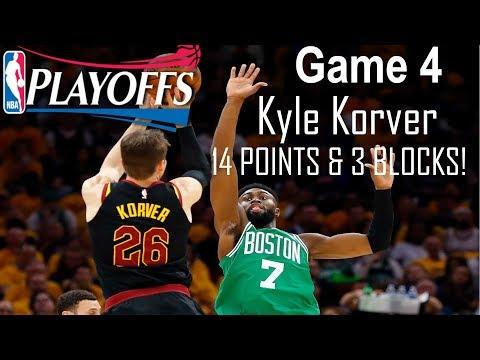 Kyle Korver dominates off the bench in Game 4 vs Celtics 2018 - 14 Points & 3 BLOCKS