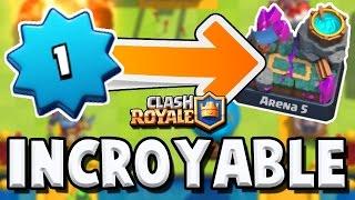 UN LVL 1 EN ARENE 5, 1400 TROPHEES | OUF | Clash Royale