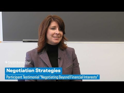 "Negotiation Strategies: Participant Testimonial ""Negotiating Beyond Financial Interests"""