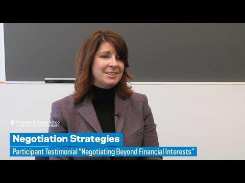 "Negotiation Strategies: Participant Testimonial ""Negotiating Beyond Financial Interests"""