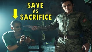 Lie and Sacrifice Azadeh VS Tell the Truth and Save Her -All Choices- CoD Modern Warfare 2019