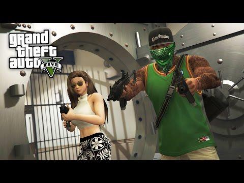 GTA 5 Real Life Thug Mod #32 - PACIFIC BANK HEIST!! (GTA 5 Mods)