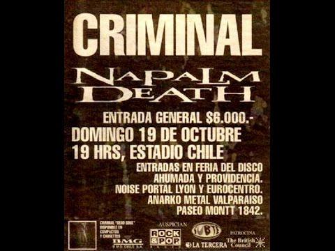 Napalm Death live santiago Chile 1997 full show