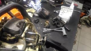Stihl ms-180 проблема важеля управління