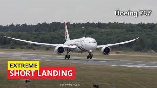 Dreamliner Boeing 787 Combat Short Landing by Top Skilled Pilot