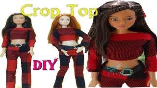 Barbie CropTop ikili  Takım Tarz kıyafetler Kendin yap DIY