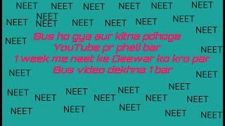 How  to crack neet in 1 week