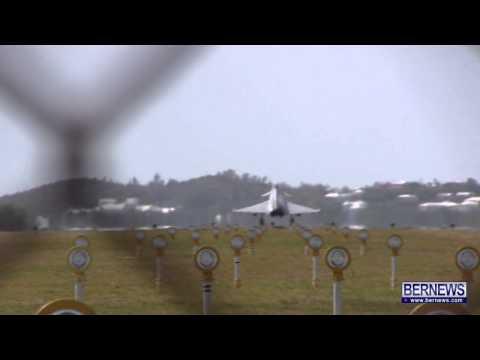 Military Aircraft Bermuda Landing, Mar 22 2013