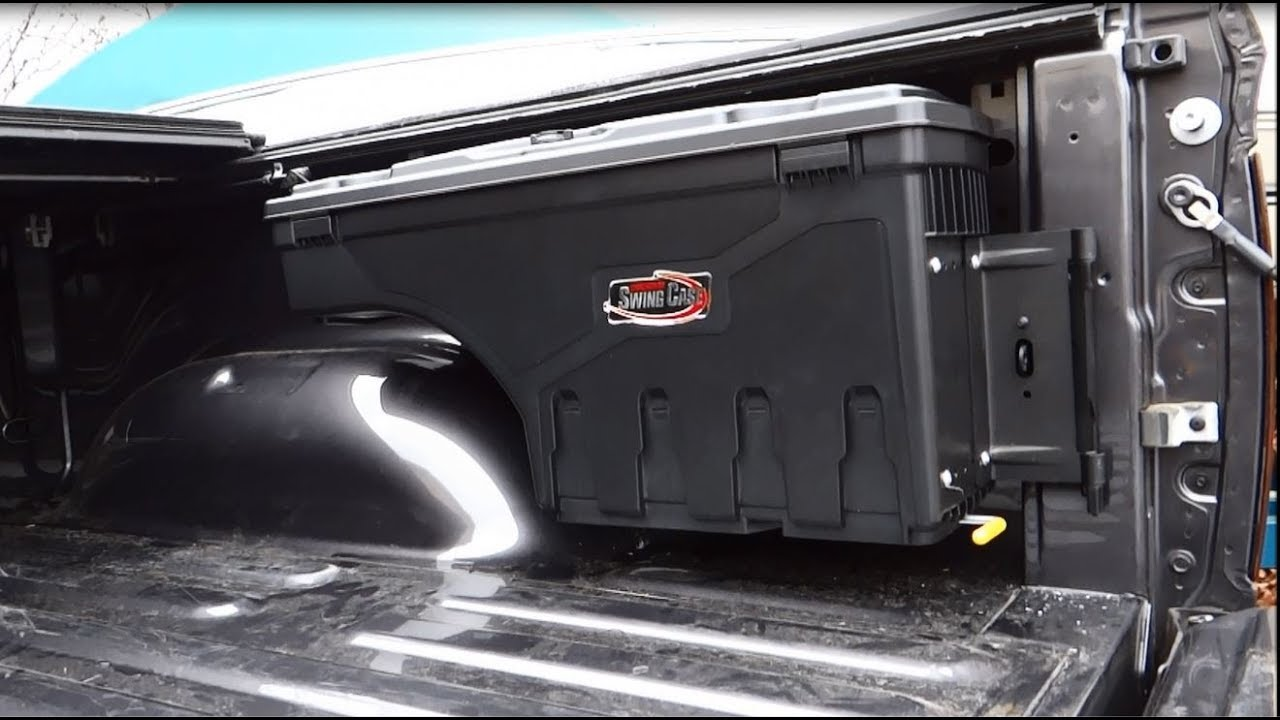 Wheel Well Tool Box >> How to Easily Install the Undercover Swing Case Tool Boxes - YouTube