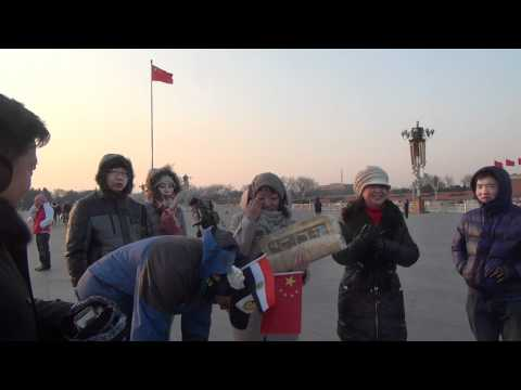 Haggagovic in Tiananmen Square, Beijing-  China