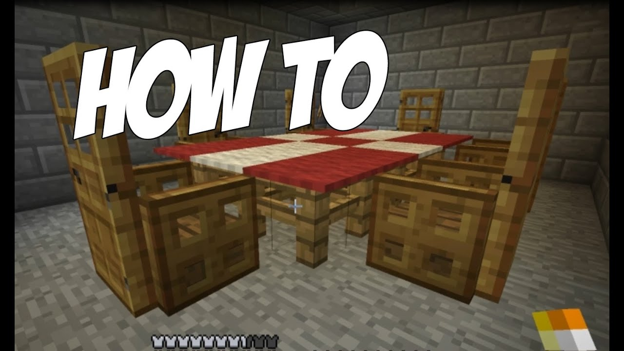 How to make a Table Cloth / Dining Room in Minecraft ...