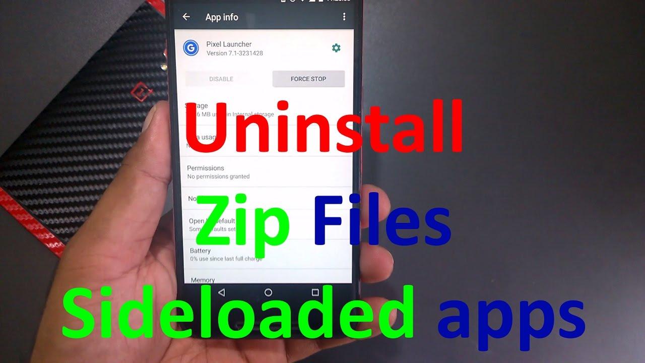 how to uninstall applications android phone