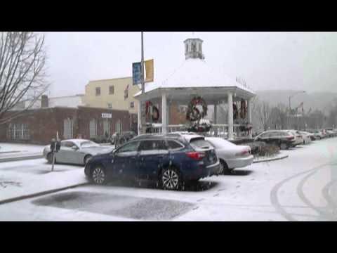 A Walk through Pleasantville on a Snowy Day
