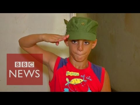 Fidel Castro's 'superfan': 8 year old Marlon Mendez - BBC News