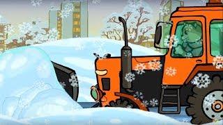 Развивающие и обучающие песенки - Три котенка: Зимние машинки + Едем на Елку - песенки про машинки