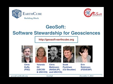 Cyber4Paleo Webinar 22 Part 2: GeoSoft - a community software commons for the geosciences
