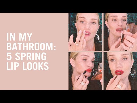 5 Spring Lip Looks From Rosie Huntington-Whiteley
