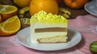 Персиковый муссовый торт