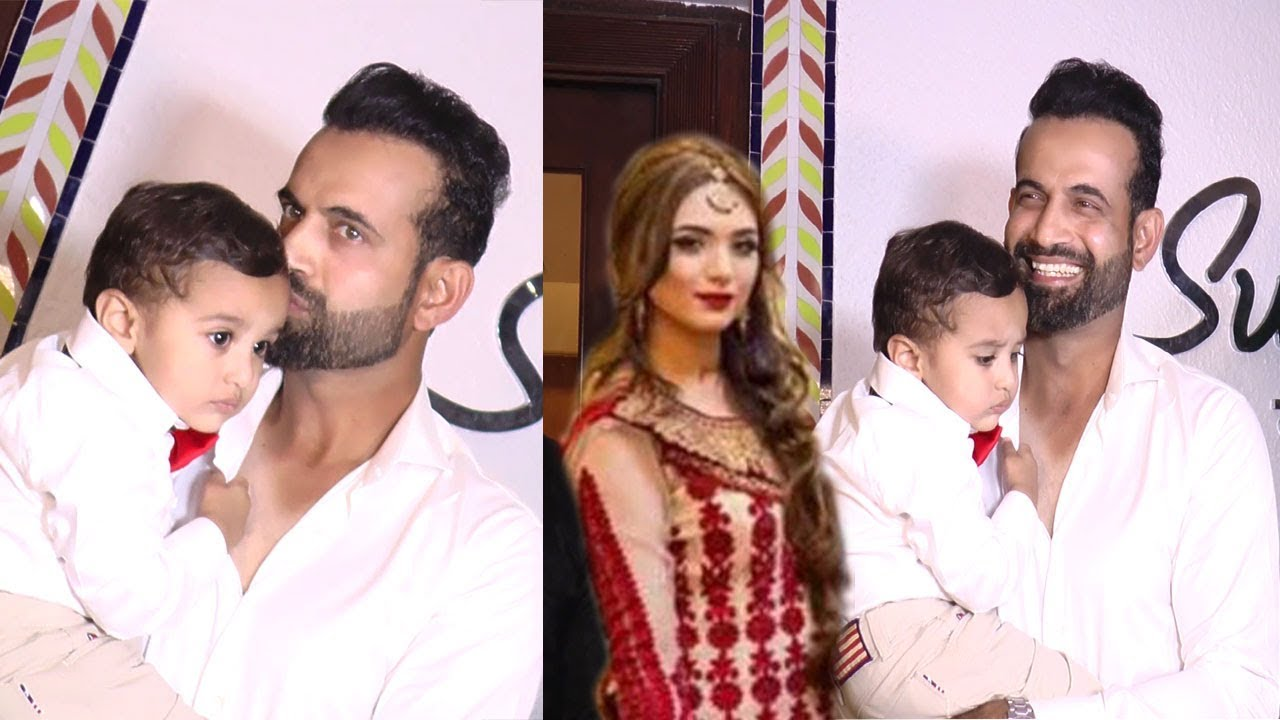 Cricketer Irfan Pathan With Wife Safa Baig & Son Attended The ...