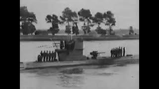 German U-Boat Returns to Port in WW2