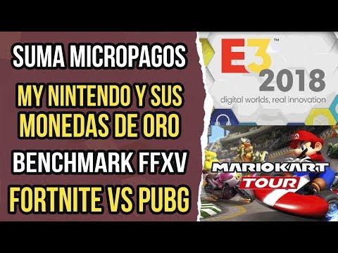 Noticias de videojuegos 53 - Benchmark FFXV, My nintendo gold coins, Fornite vs PUBG