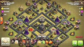 GoVaHo Queen walk 3 star TH9 Clash of Clans